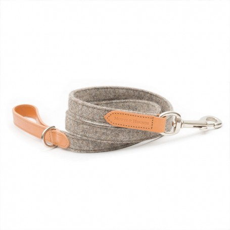 "Let ""Camelo"" leather and tweed grey by Mutts & Hounds"